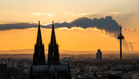 Cologne cathedral sundown Royalty Free Stock Photography