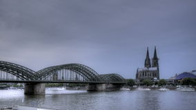Cologne Cathedral Sunset stock video footage