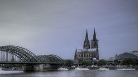 Cologne Cathedral Sunset stock footage
