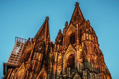 Cologne Cathedral towers Stock Photography