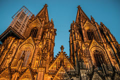 Cologne Cathedral towers Royalty Free Stock Photo