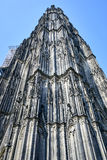 Cologne Cathedral under restoration. The work continues to restore and preserve a gorgeous German Gothic Landmark royalty free stock images