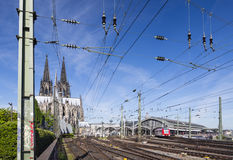 Cologne Central Station and Cathedral, Germany Stock Photography