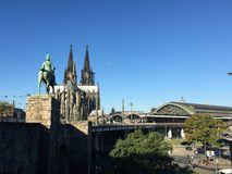 Cologne central Station and Dom Stock Photos