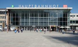 Cologne centralstation - HBF Köln arkivbild