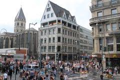 Cologne centrum Arkivbild