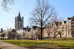 Cologne . The Church of St. Martin. Stock Images