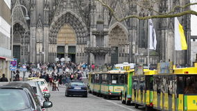 Cologne city. The historic city center of Cologne stock video
