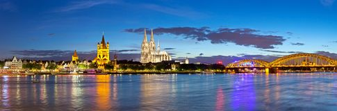 Cologne city skyline panorama - Germany Stock Image