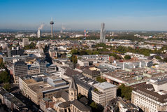 Cologne cityscape from Cologne cathedral Stock Photos