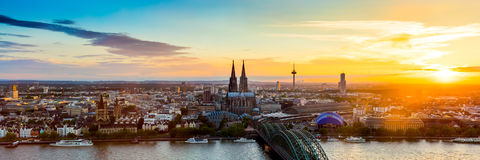 Cologne Cityscape royalty free stock photo