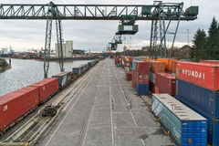 Cologne - Container port Royalty Free Stock Image