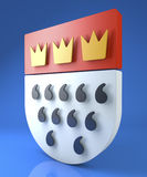 Cologne crest, coat of arms, Koelner Wappen Stock Image