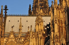 Cologne Dom gothic cathedral, Germany. Detail Royalty Free Stock Images