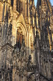 Cologne Dom gothic cathedral, Germany. Detail Stock Photo
