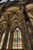 Cologne Dom Stained Glass Stock Photo