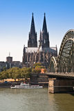 Cologne, Dom View From The River Stock Photo