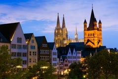 Cologne domkyrka- eller Kolner Dom i Cologne/Koln, Tyskland arkivbilder