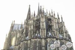 Cologne domkyrka i Cologne, Tyskland Huvudsaklig sikt fotografering för bildbyråer
