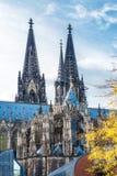 Cologne domkyrka på hösten royaltyfri foto