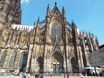 Cologne domkyrka, södra portal Royaltyfria Foton