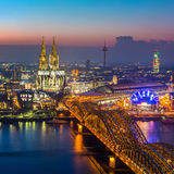 Cologne at dusk Royalty Free Stock Photo