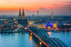Cologne at dusk Stock Photography