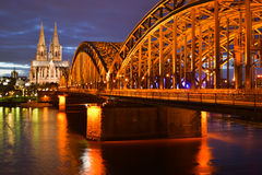 Cologne evening Stock Photography