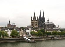 Cologne flyg- sikt Arkivbilder