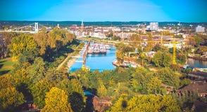 Cologne från över arkivfoto