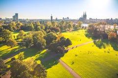 Cologne från över fotografering för bildbyråer