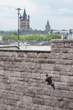 Cologne, Free Climbing Training Royalty Free Stock Image
