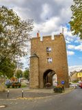 Cologne Gate in Zuelpich, North Rhine-Westphalia, Germany. On a cloudy September day stock image