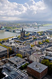 Cologne, germany. Lookout from cologne's dom, germany Stock Image