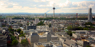 Cologne (Germany). View from the cathedral tower on the city of Cologne, Germany Stock Image