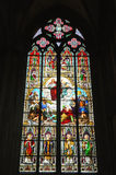 Stained glass window in Cologne Cathedral Royalty Free Stock Image