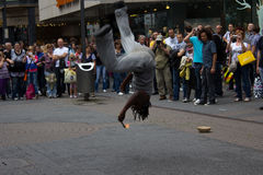 Cologne, Germany - August 13, 2011: Fire show on the street in C. Street artists performing a fire show in Cologne, Germany Stock Photo