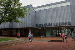 Cologne, Germany - August 13, 2011: Museum Ludwig in Cologne, Ge. People walk in font of Museum Ludwig in Cologne, Germany Stock Photo