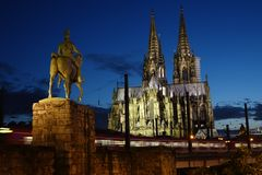 Cologne Germany. Beautiful cathedral in the city of Cologne Germany Stock Image