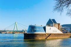 Imhoff-Schokoladenmuseum in Cologne, Germany. Cologne, Germany - February 24, 2018: Imhoff-Schokoladenmuseum in Cologne. It was opened 1993 and belongs with Royalty Free Stock Photos