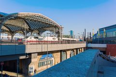 View of the main station in Cologne, Germany. Cologne, Germany - February 24, 2018: view of the main station in Cologne. With daily 280.000 travelers the station Stock Photo