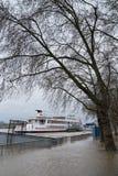 Flood on Rhine river, Cologne, Germany Stock Image