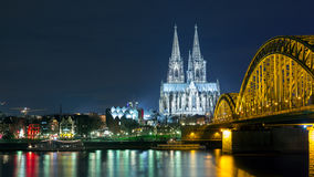 Cologne Germany night Stock Photography