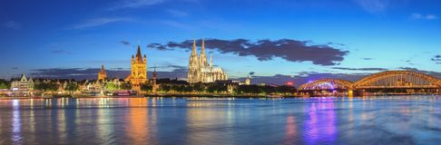 Cologne panorame skyline - Germany Royalty Free Stock Photography