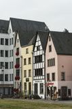 COLOGNE, GERMANY - SEPTEMBER  11, 2016: Colorful houses in Bavarian style in the old town of Cologne, North Rhine-Westphalia Royalty Free Stock Photo