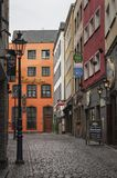 COLOGNE, GERMANY - SEPTEMBER 17, 2016: View of Salzgasse street in center of Cologne city Royalty Free Stock Photos