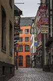 COLOGNE, GERMANY - SEPTEMBER 17, 2016: View of Salzgasse street in center of Cologne city Royalty Free Stock Photography