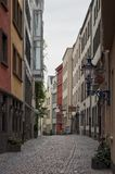 COLOGNE, GERMANY - SEPTEMBER 17, 2016: View of Salzgasse street in center of Cologne city Stock Images