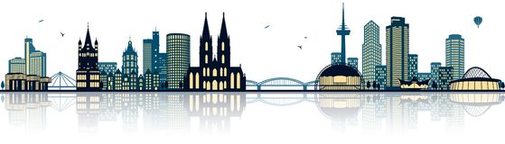 Cologne germany skyline isolated