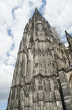 Cologne gothic cathedral in germany. Ancient cologne gothic cathedral in germany Stock Photography